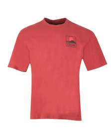 Edwin Mens Red Sunset On Mount Fiji T Shirt