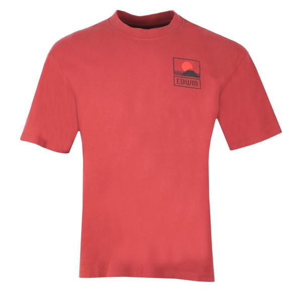 Edwin Mens Red Sunset On Mount Fiji T Shirt main image