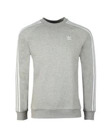 adidas Originals Mens Grey 3 Stripes Sweat