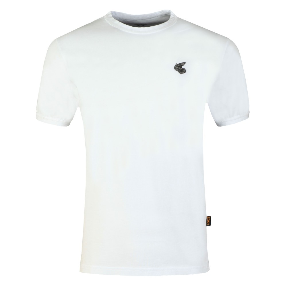sleek sleek innovative design Mens White New Classic Badge Logo T Shirt