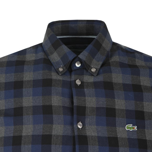 Lacoste Mens Grey CH0026 Check Shirt main image
