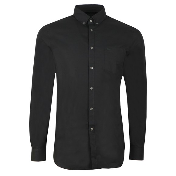 Lacoste Mens Black CH9623 Plain Shirt main image