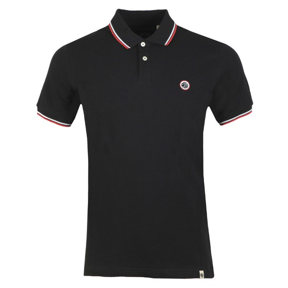 Pretty Green Mens Black Tipped Pique Polo main image
