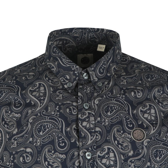 Pretty Green Mens Black Paisley Print Shirt main image