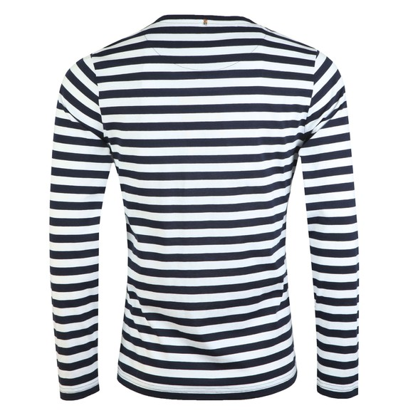Pretty Green Mens Blue L/S Stripe Tee main image