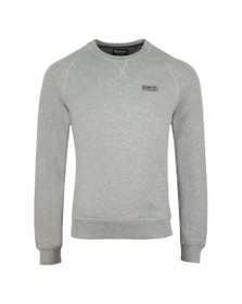 Barbour International Mens Grey Essential Crew Sweat