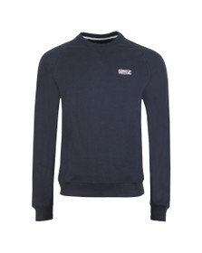 Barbour International Mens Blue Essential Crew Sweat