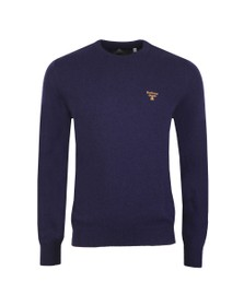 Barbour Beacon Mens Blue Logo Crew Jumper