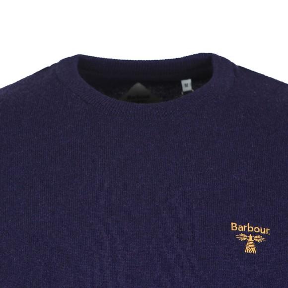 Barbour Beacon Mens Blue Logo Crew Jumper main image