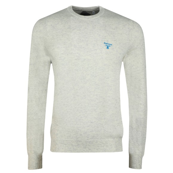 Barbour Beacon Mens Off-White Logo Crew Jumper