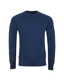 Barbour International Mens Blue Tracker Crew Jumper