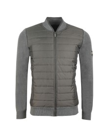 Barbour International Mens Grey Baffle Zip Through