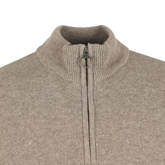 Barbour Lifestyle Mens Beige Holden Half Zip Jumper main image