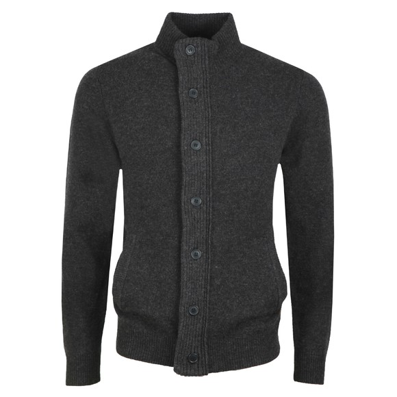 Barbour Lifestyle Mens Grey Patch Zip Through Jumper main image