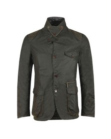 Barbour Icons Mens Green Beacon Sports Wax Jacket