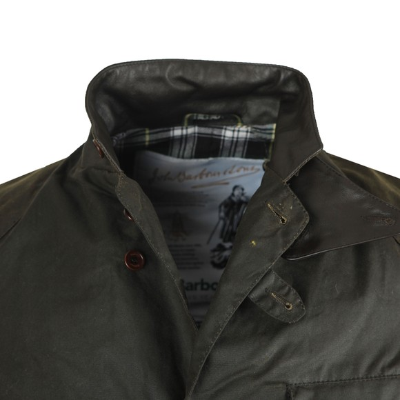Barbour Icons Mens Green Beacon Sports Wax Jacket main image