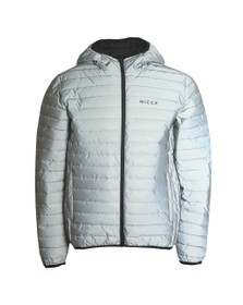 Nicce Mens Silver Maidan Jacket
