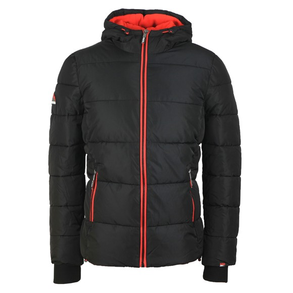 Superdry Mens Black Sports Puffer Jacket main image