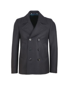 PS Paul Smith Mens Blue Reefer Coat
