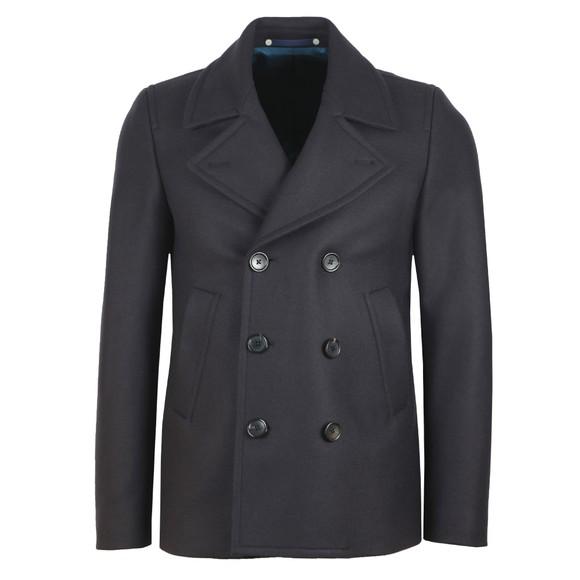 PS Paul Smith Mens Blue Reefer Coat