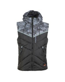 Superdry Mens Black Digitize Reflective Gilet