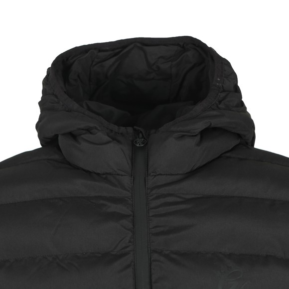 Gym King Mens Black Core Puffa Hooded Jacket main image