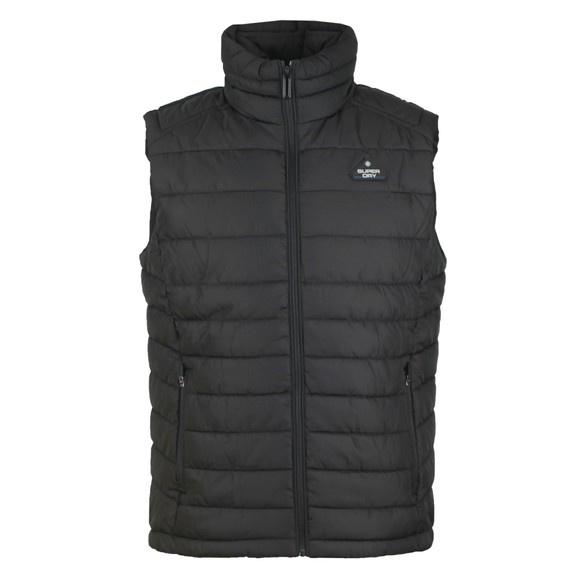Superdry Mens Black Double Zip Fuji Gilet main image