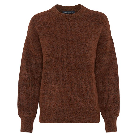 French Connection Womens Brown Rufina Knits Crew Jumper