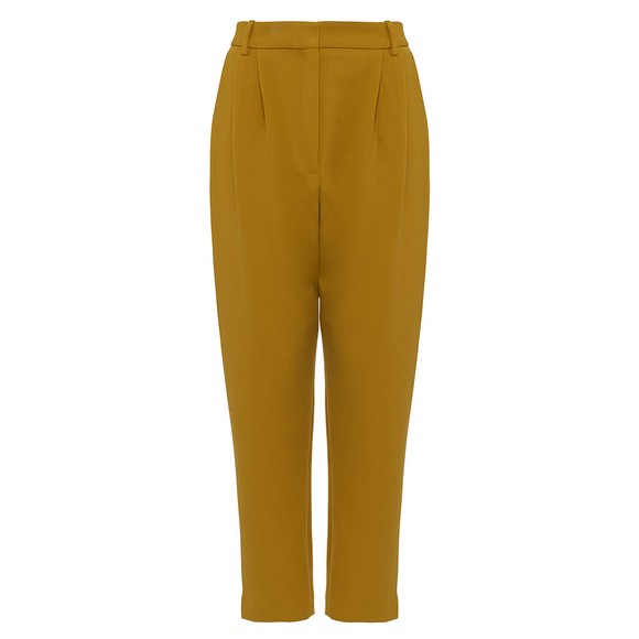 French Connection Womens Yellow Alido Sundae Suiting Trouser