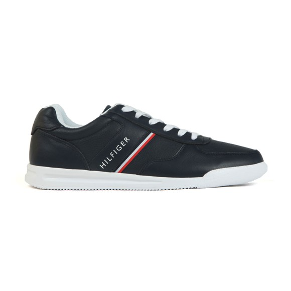 Tommy Hilfiger Mens Blue Lightweight Leather Trainer