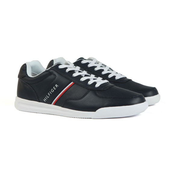 Tommy Hilfiger Mens Black Lightweight Leather Trainer main image