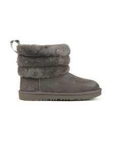 Ugg Girls Grey K Fluff Mini Quilted Boot
