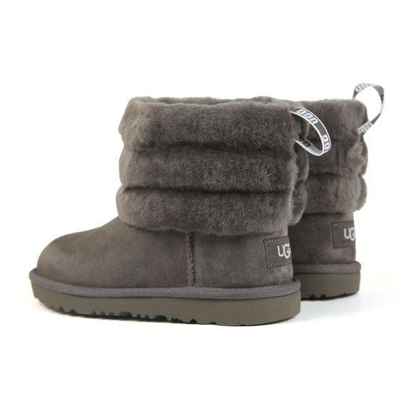 Ugg Girls Grey K Fluff Mini Quilted Boot main image