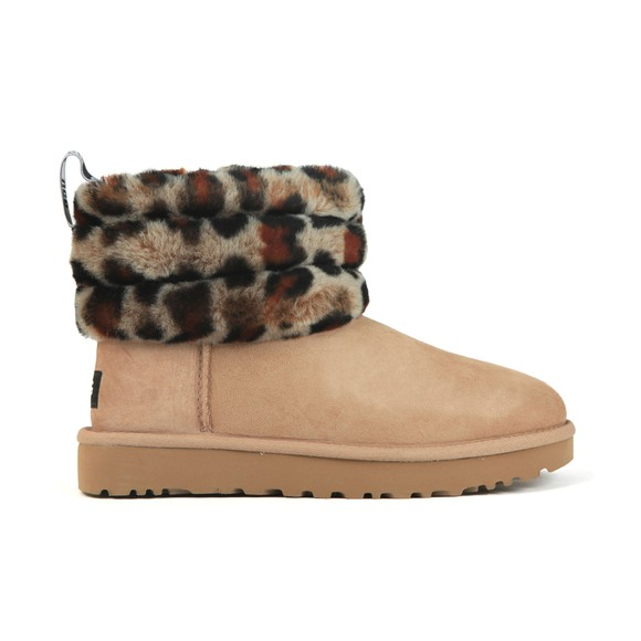 Ugg Womens Beige Fluff Mini Quilted Boot
