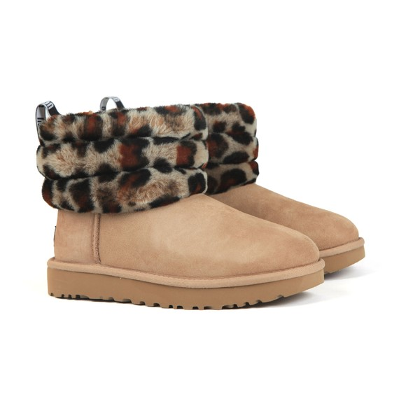 Ugg Womens Beige Fluff Mini Quilted Boot main image