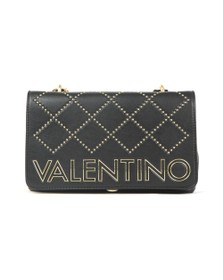 Valentino by Mario Womens Black Mandolino Mid Satchel