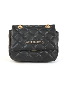 Valentino by Mario Womens Black Ocarina Small Satchel