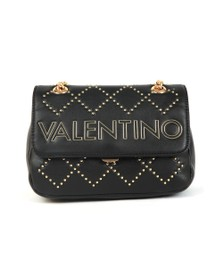 Valentino by Mario Womens Black Mandolino Small Satchel