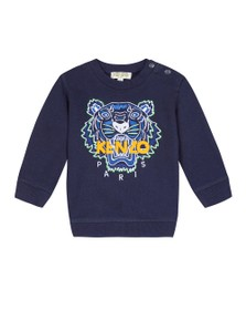 Kenzo Baby Boys Blue Embroidered Tiger Sweatshirt