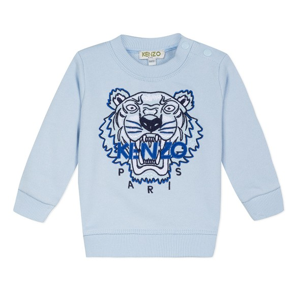Kenzo Baby Boys Blue Embroidered Tiger Sweatshirt main image