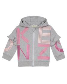 Kenzo Baby Girls Grey Sport Logo Hoody
