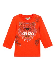 Kenzo Baby Boys Orange Japanese Dragon Tiger T Shirt
