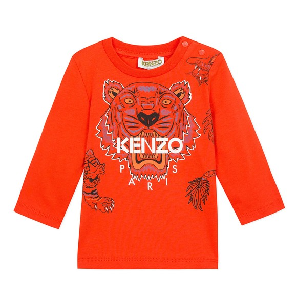 Kenzo Baby Boys Orange Japanese Dragon Tiger T Shirt main image