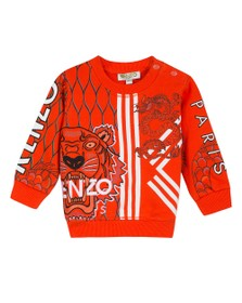 Kenzo Baby Boys Orange Gomer Japanese Dragon Sweatshirt