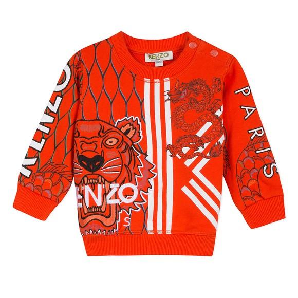 Kenzo Baby Boys Orange Gomer Japanese Dragon Sweatshirt main image