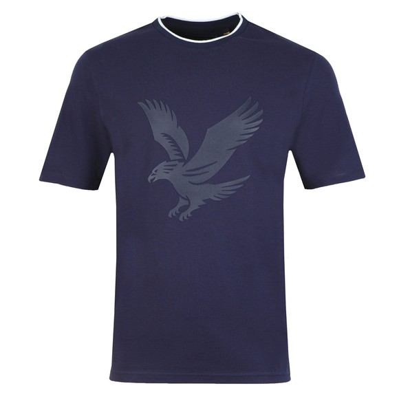 Lyle and Scott Mens Blue Pique Tee main image