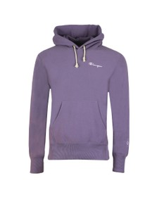Champion Reverse Weave Mens Purple Small Logo Overhead Hoody