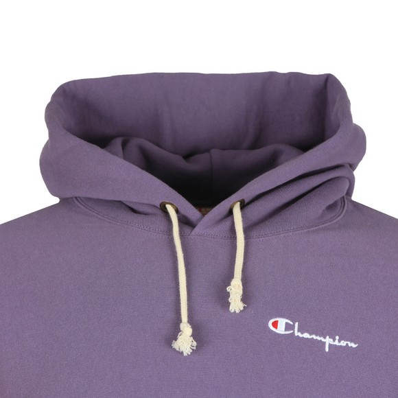 Champion Reverse Weave Mens Purple Small Logo Overhead Hoody main image
