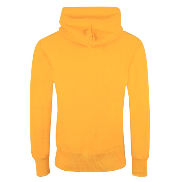 Champion Reverse Weave Mens Yellow Script Logo Overhead Hoody main image