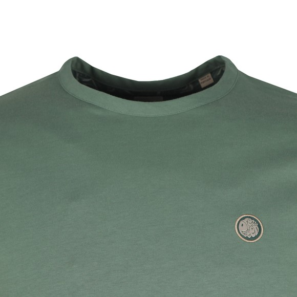 Pretty Green Mens Green Basic T-Shirt main image